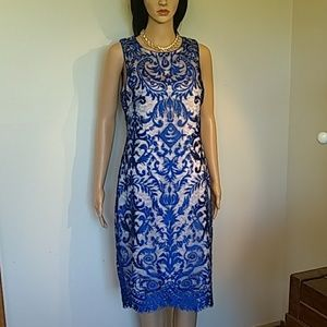 Vince Camuto bodycon lace lined dress sexy